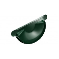 Заглушка желоба торцевая Grand Line Granite 125 мм RAL 6005 (зеленый мох)