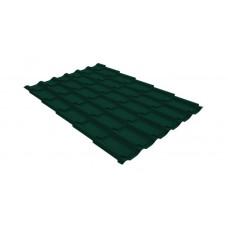 Металлочерепица Grand Line Classic 0.4 мм Полиэстер (RAL 6005 зеленый мох)