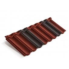 Композитная черепица MetroBond Красно-чёрный