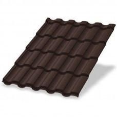 Металлочерепица Металл Профиль Монтекристо 0.5 мм Norman (RAL 8017 шоколадно-коричневый)