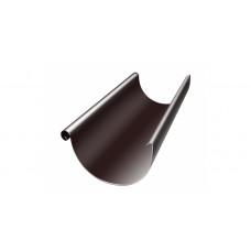 Желоб водосточный полукруглый Grand Line Granite 150 мм RAL 8017 (шоколадно-коричневый) 3 м