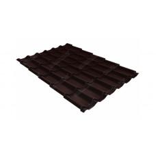 Металлочерепица Grand Line Classic 0.5 мм Atlas (RAL 8017 шоколадно-коричневый)
