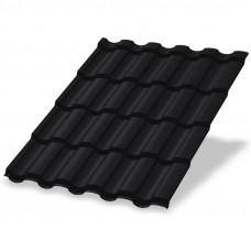 Металлочерепица Металл Профиль Монтекристо 0.5 мм Purman (RAL 9005 черный янтарь)
