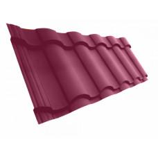 Металлочерепица Grand Line Kredo 0.5 мм Velur (RAL 3005 винно-красный) В наличии