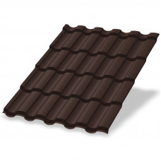 Металлочерепица Металл Профиль Монтекристо 0.5 мм Prisma (RAL 8017 шоколадно-коричневый)