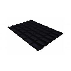 Металлочерепица Grand Line Classic 0.5 мм Quarzit Lite (RAL 9005 черный янтарь)