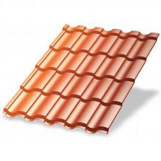 Металлочерепица Металл Профиль Монтекристо 0.5 мм Agneta (Copper)