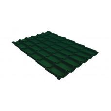 Металлочерепица Grand Line Classic 0.5 мм Quarzit Lite (RAL 6005 зеленый мох)