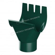 Воронка желоба Металл Профиль Престиж (Foramina) 125/100 мм RAL 6005 (зеленый мох)