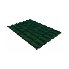 Металлочерепица Grand Line Classic 0.45 мм Drap (RAL 6005 зеленый мох)