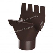Воронка желоба Металл Профиль Престиж (Foramina) 125/100 мм RAL 8017 (коричневый)