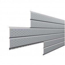Софит металлический Металл Профиль Lбрус перфорированный Norman 0.5 мм RAL 7004 (сигнальный серый)