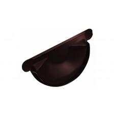 Заглушка желоба торцевая Grand Line Granite 150 мм RAL 8017 (шоколадно-коричневый)