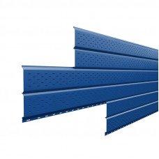 Софит металлический Металл Профиль Lбрус перфорированный Norman 0.5 мм RAL 5005 (сигнальный синий)