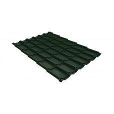 Металлочерепица Grand Line Classic 0.5 мм GreenCoat Pural (RR 11 темно-зеленый)